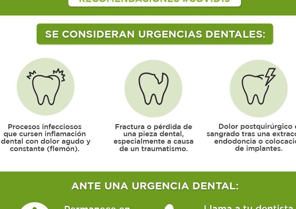 Como actuar  frente a una urgencia dental en estado de alarma